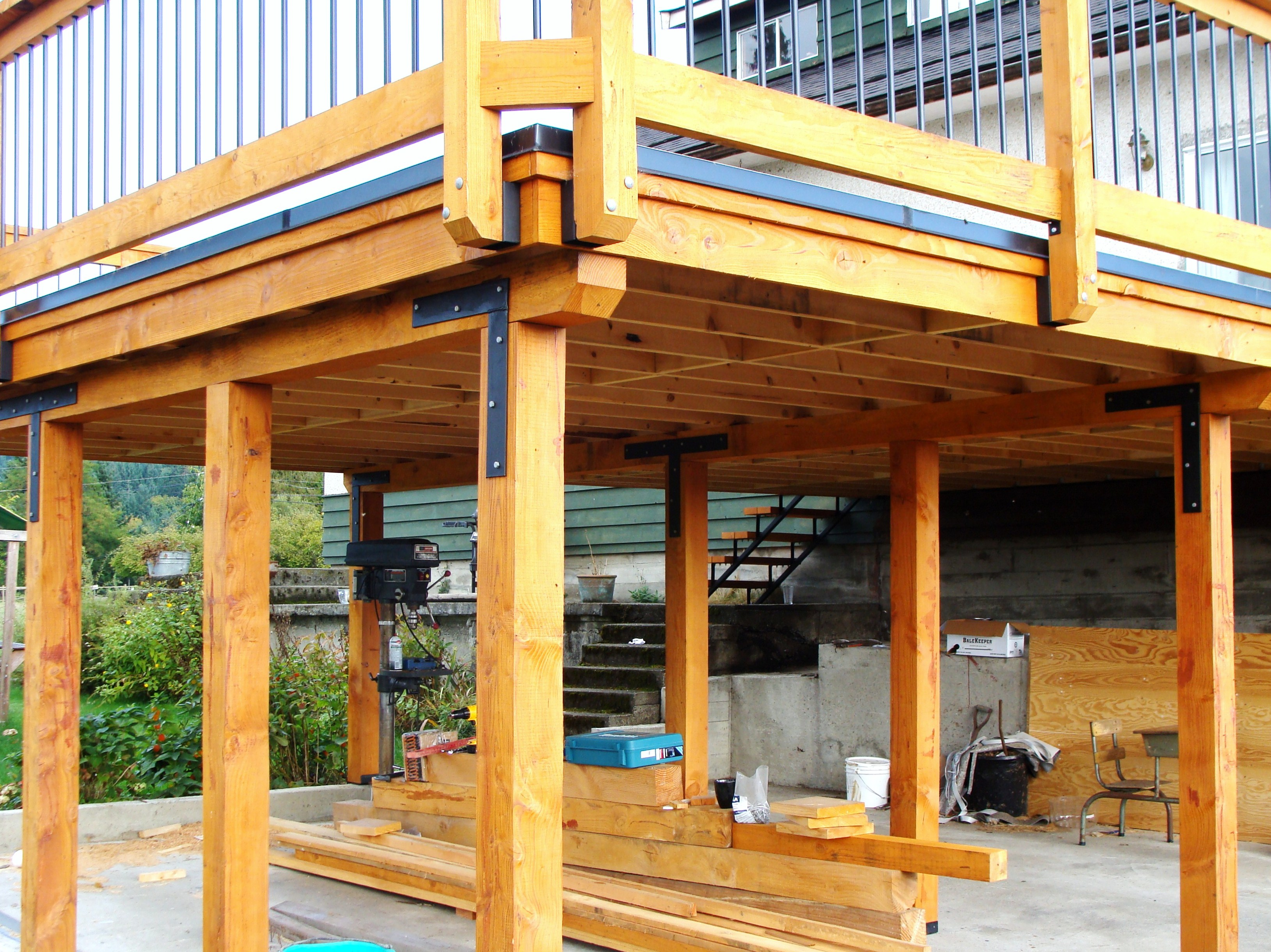 Exterior projects made to last building and renovations for Garage deck
